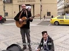 Cute musician boy