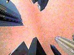 Giant crushes tiny city