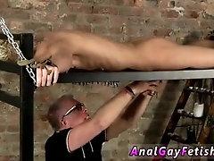 Hot gay college boy bondage Draining A Slave Boys Cock