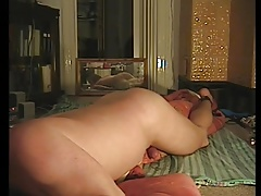 Pillow humping, moaning and cumming
