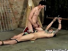 Gay cock Pegged And Face