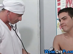 Twink patient spunked on