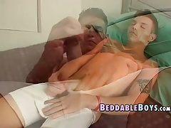 Twink Jeremiah Johnson self sucking his cock and jerking off