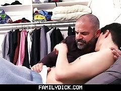 FamilyDick - Daddy Jerks off Shy Twink