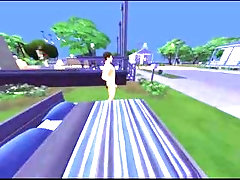 Asian Gay Sims Have Fun Together