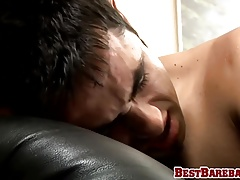 Bareback hard smacking with kinky twink and jock