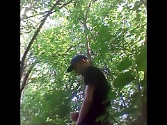 Young Twink Boy Masturbate in the Public woods 1
