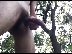 Just piss squirtin' and cock flexin' in the park