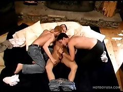 Twink Trio Enjoys Group Sex Spit Roast