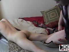 Cute twink on cock sucking