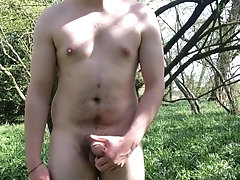 Getting naked in the woods!