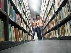 Car park wank-lovers wank in a library