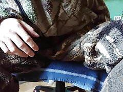 FUCKING FLEECE JACKET & CUMSHOT IN HUNTING BERBER FLEECE