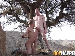 Bound Chris Jansen lets Sean Taylor piss on him in the open