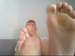 straight guys feet on webcam 57